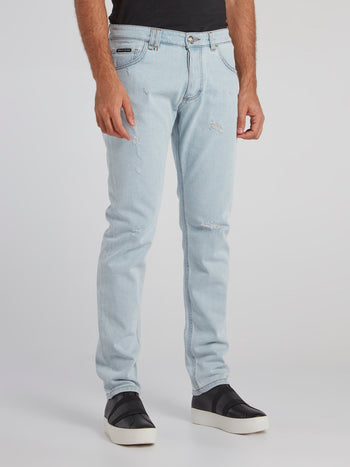Acid Blue Straight Cut Jeans