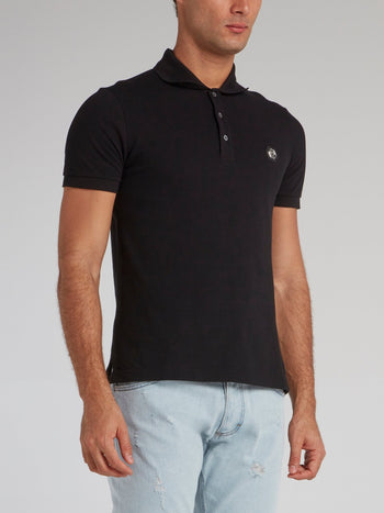Black Dollar Skull Polo Shirt