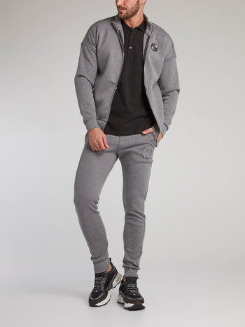 Grey Monogram Jogging Jacket