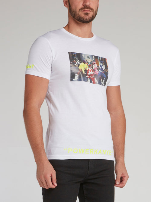 Power Rangers White Crewneck T-Shirt