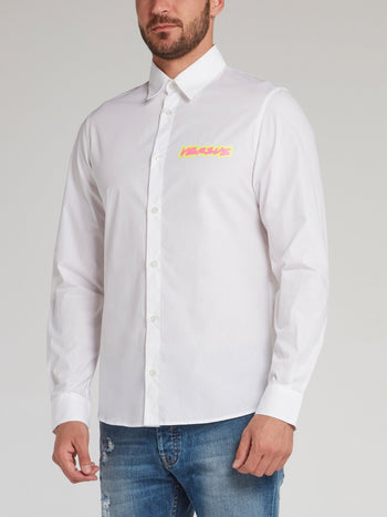 White Highlight Logo Shirt
