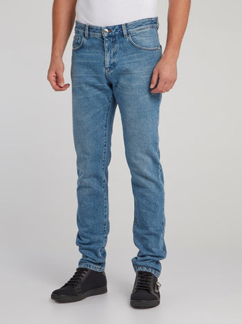 Blue Straight Cut Jeans