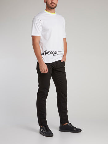 Black Straight Cut Jeans
