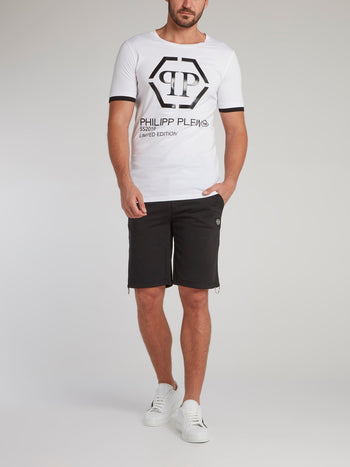 Black Rear Logo Jogging Shorts