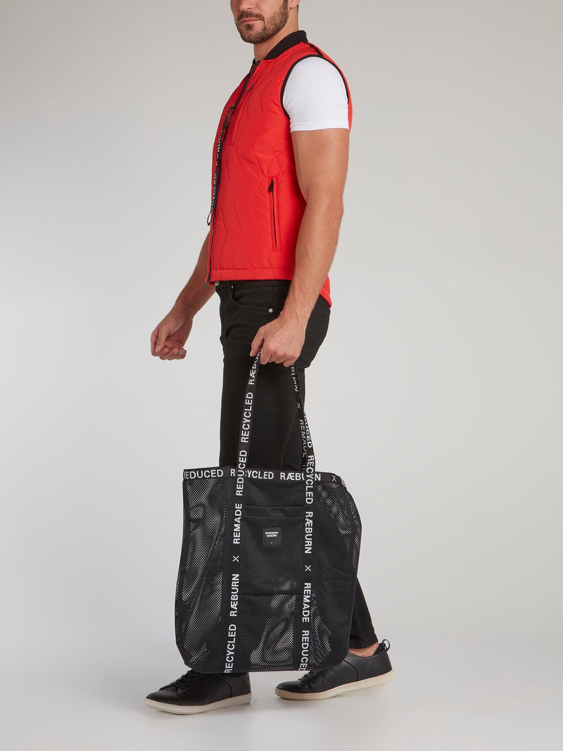 Black Logo Trim Tote Bag