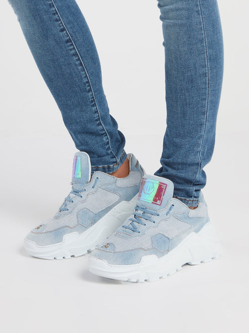 Blue Denim Runner Sneakers