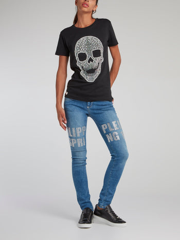 Crystal Plein Statement Denim Jeans