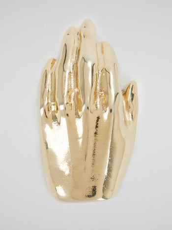 Gold Hand Brooch