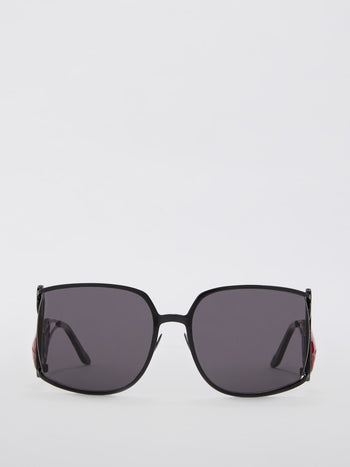 Flamant Black Crystals of Rocca Embellished Sunglasses