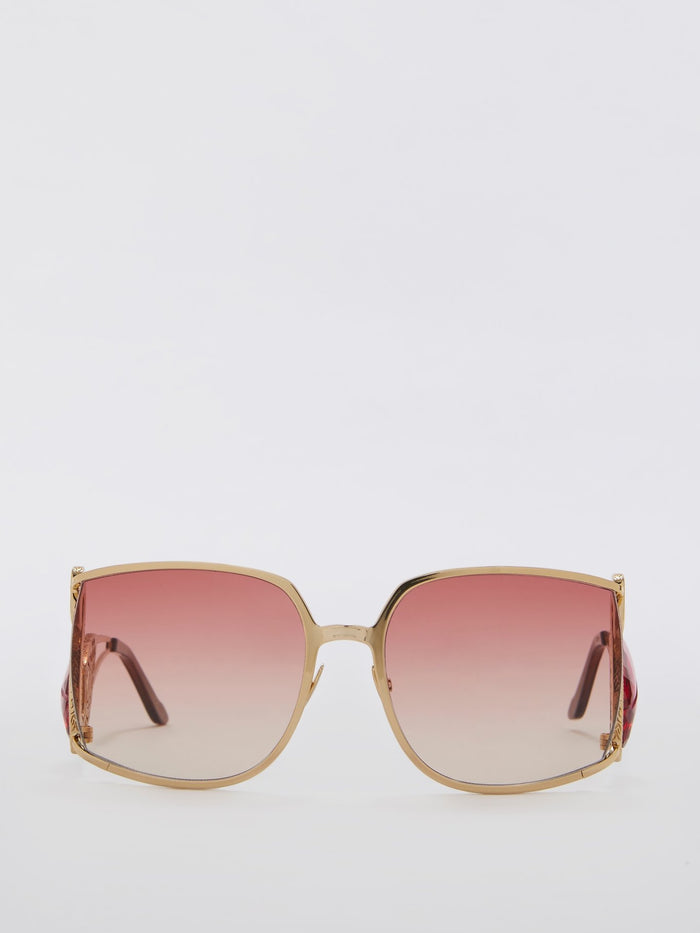 Flamant Pink Crystals of Rocca Embellished Sunglasses
