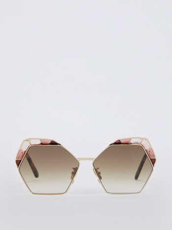 Vlinder Hexagon Frame Sunglasses