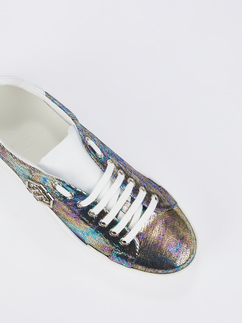 Metallic Monogram Low Top Sneakers