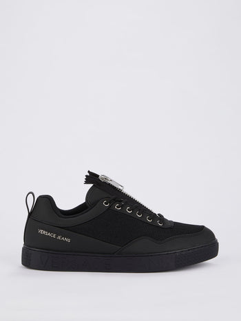 Black Zip Up Mesh Sneakers