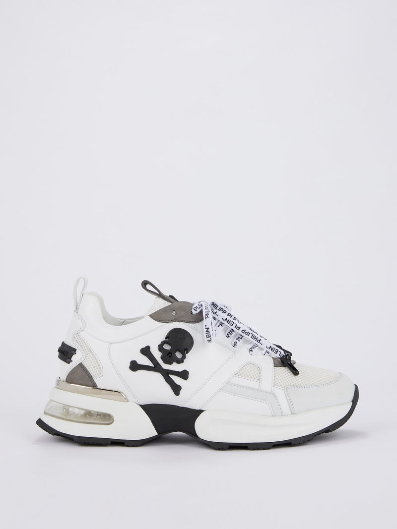 White Logo Lace Skull Runners