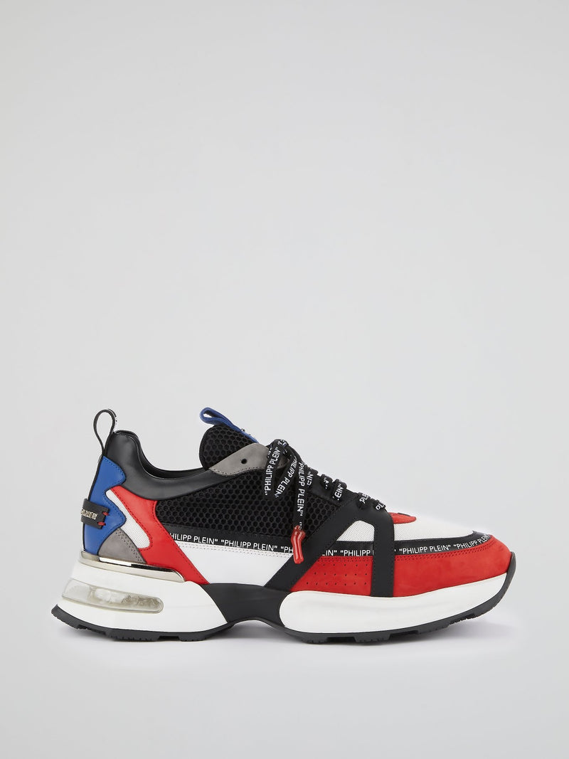 Colour Block Logo Trim Trainers