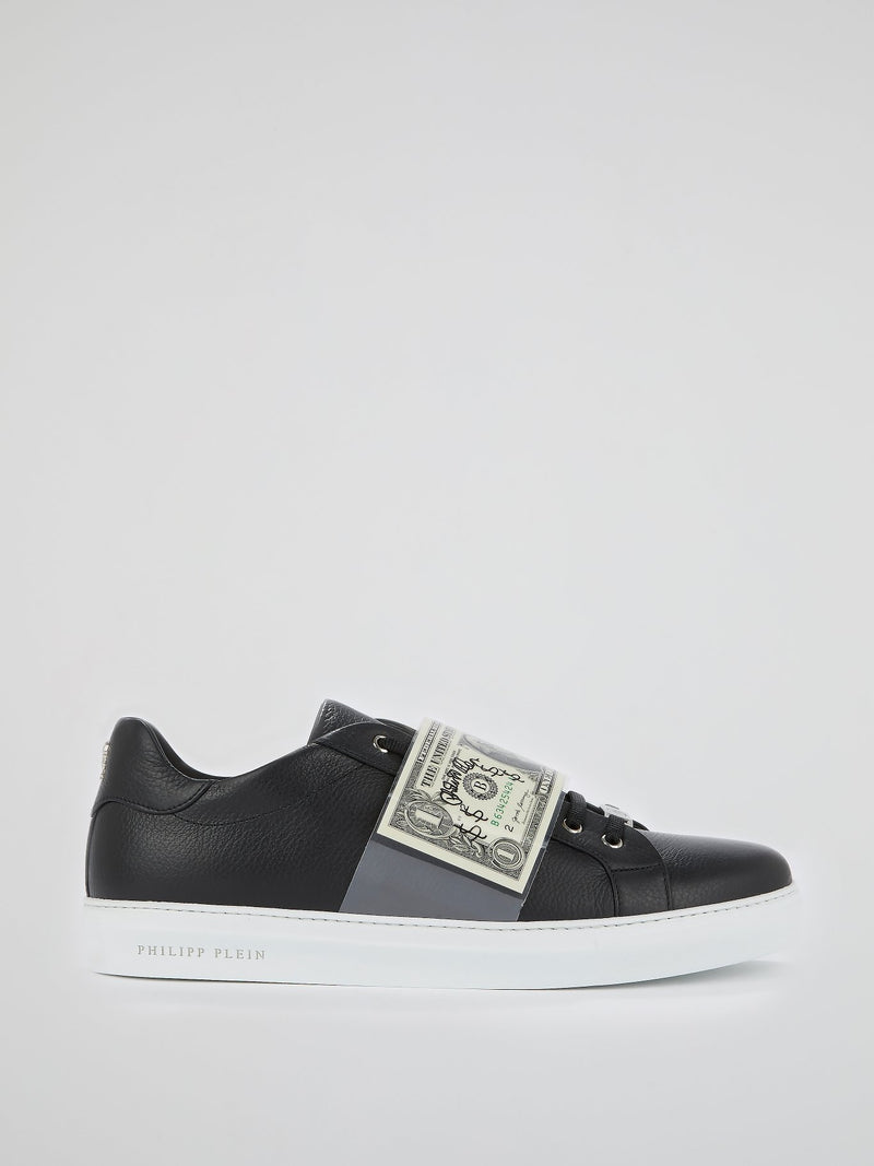 Black Low Top Dollar Sneakers