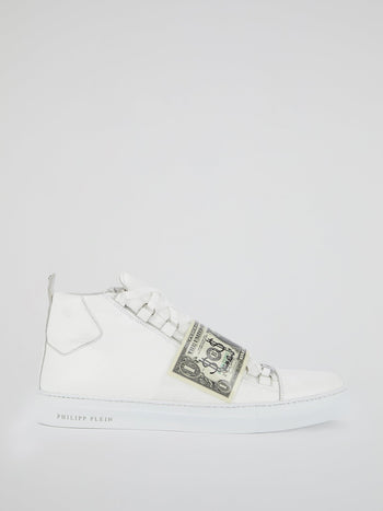 White High Top Dollar Sneakers