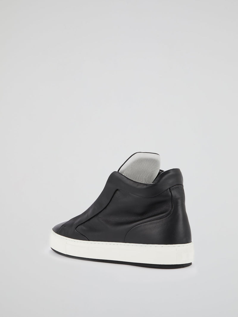 Black Logo Flap Sneakers