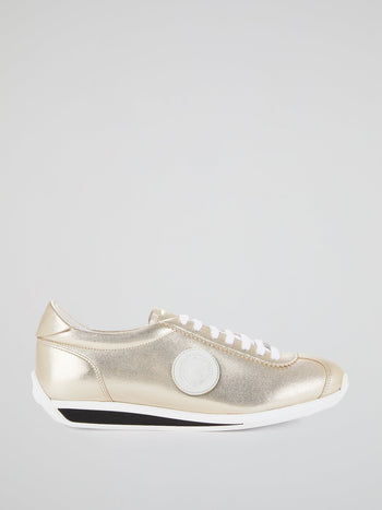 Metallic Monogram Appliquéd Sneakers