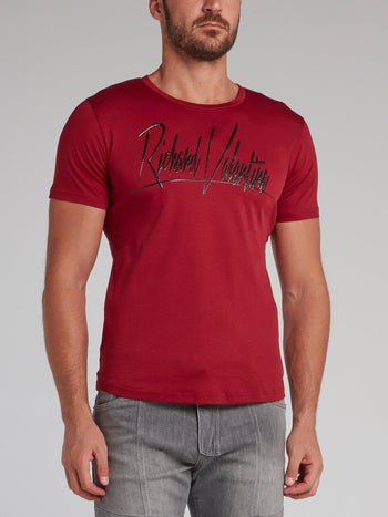 Axel Red Signature Logo T-Shirt