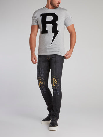 Butler Embroidered Slim Fit Jeans