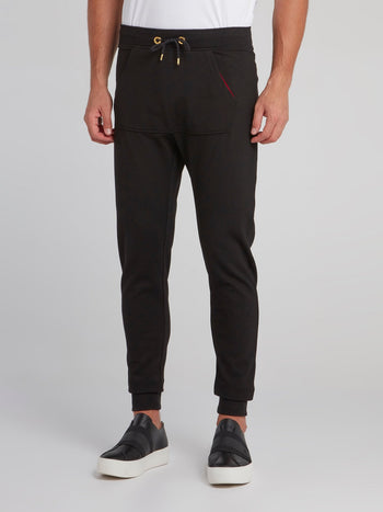 Black Front Pocket Track Pants