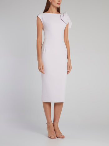 Lilac Riveting Crepe Dress