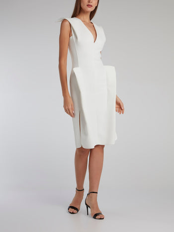 White Diamond Cut Cocktail Dress