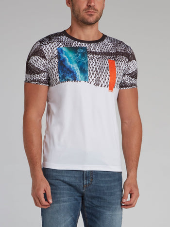 Abstract Print Round Neck T-Shirt
