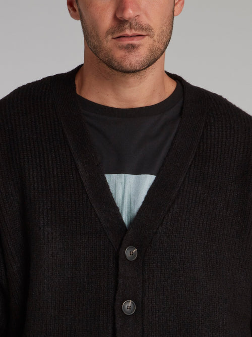Black Knit Pendant Cardigan