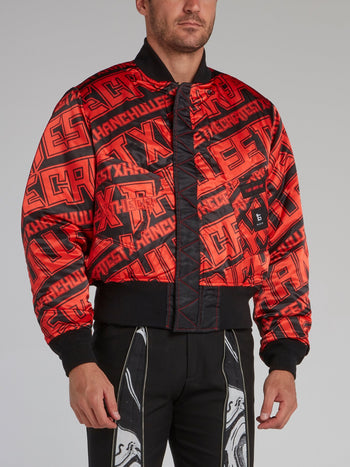 Red Reversible Statement Bomber jacket