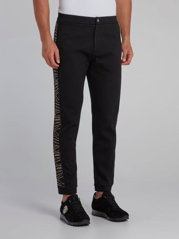 Black Side Embellished Pants