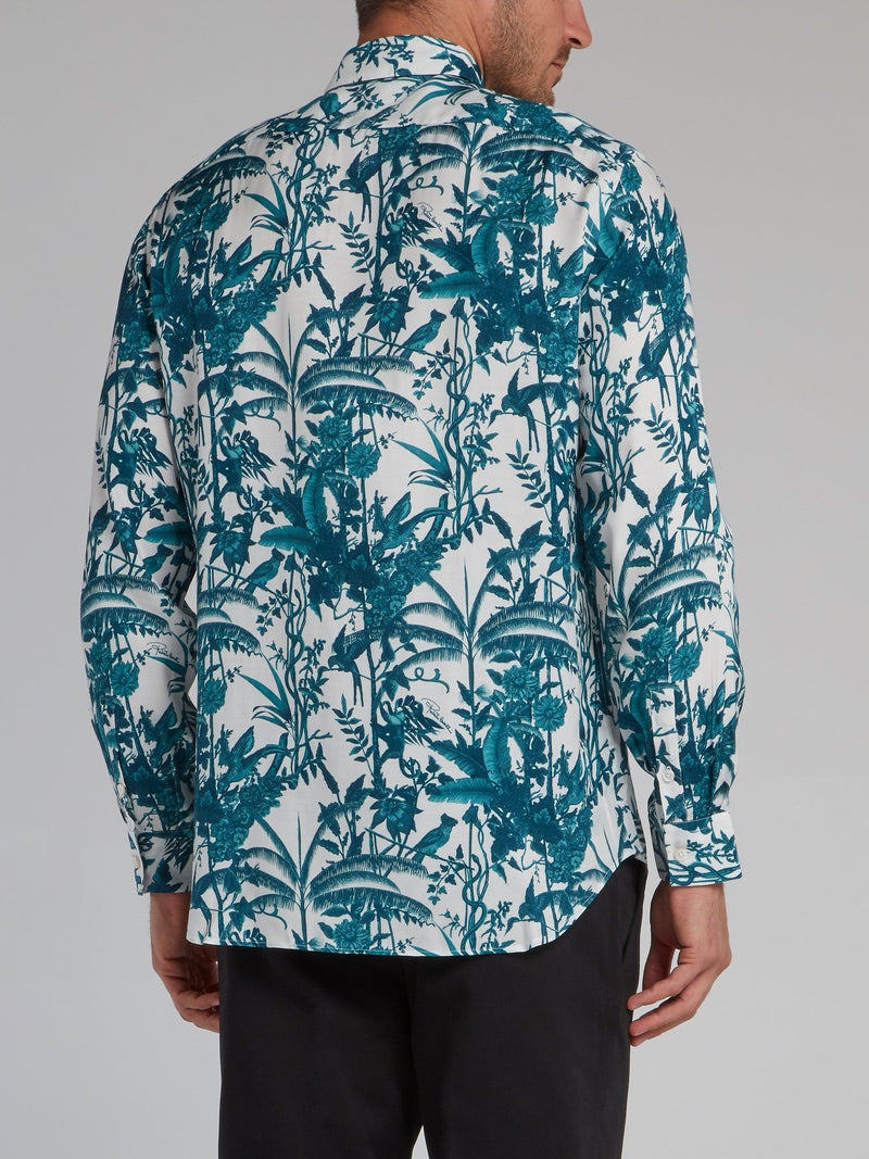 Tropical Print Long Sleeve Shirt