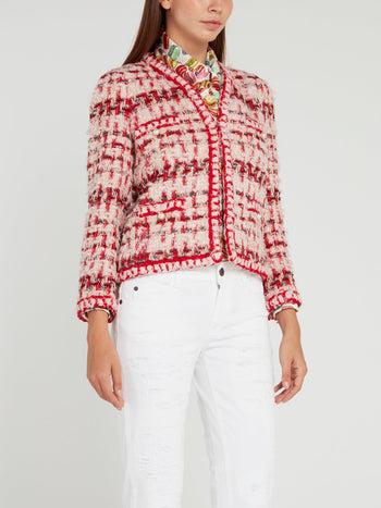 Pearl Embellished Tweed Jacket