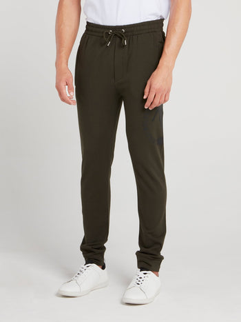 Olive Drawstring Fleece Pants