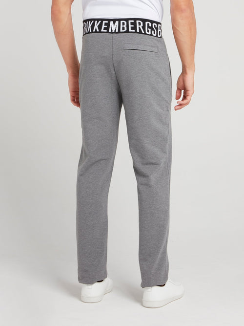 Grey Logo Waistband Fleece Pants