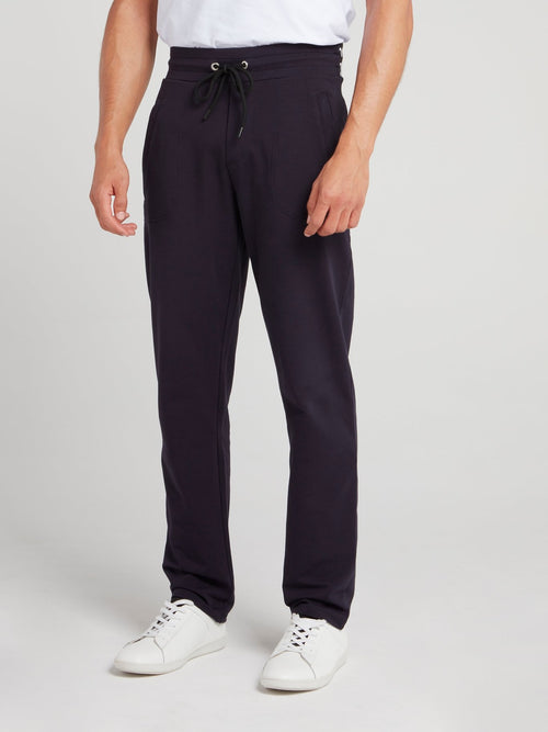 Navy Logo Waistband Fleece Pants