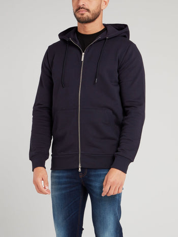 Navy Rear Logo Jacket
