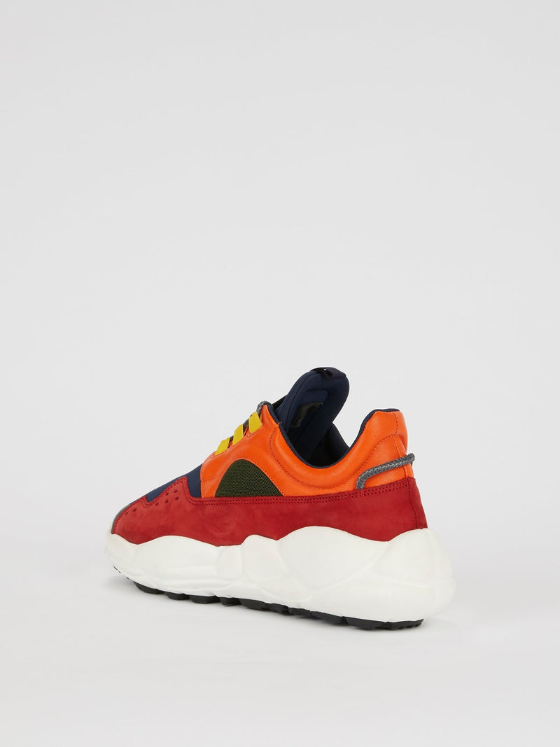 Colour Block Chunky Sole Trainers