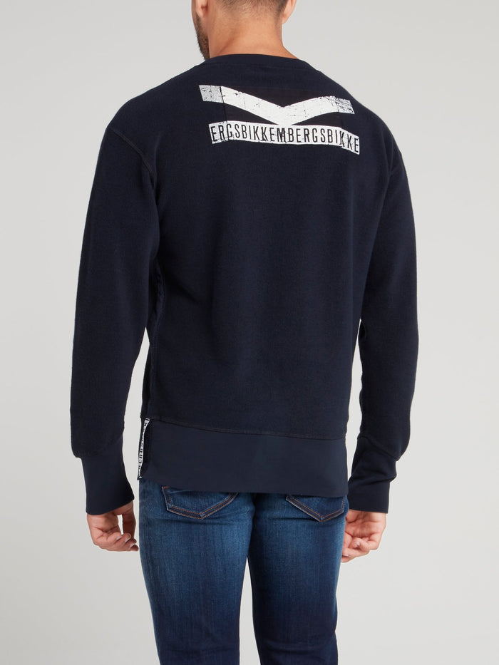 Navy Front Pocket Sweatshirt