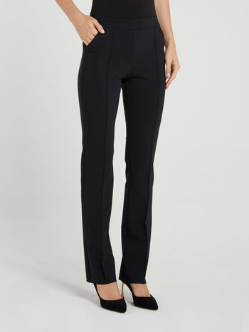 Nuccia Black Waistband Trousers