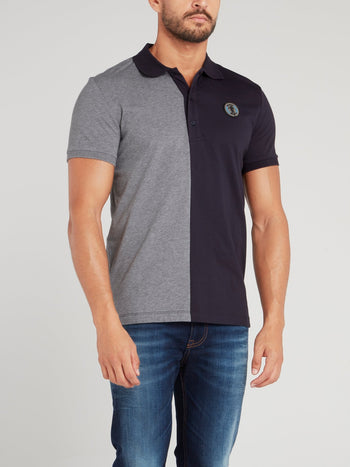 Two Tone Cotton Polo Shirt