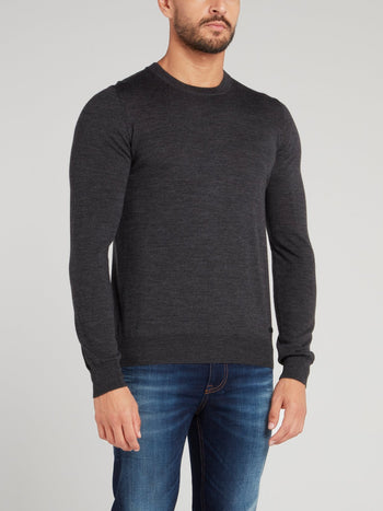 Grey Rear Stripe Sweater