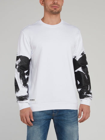 White Paint Print Sweatshirt