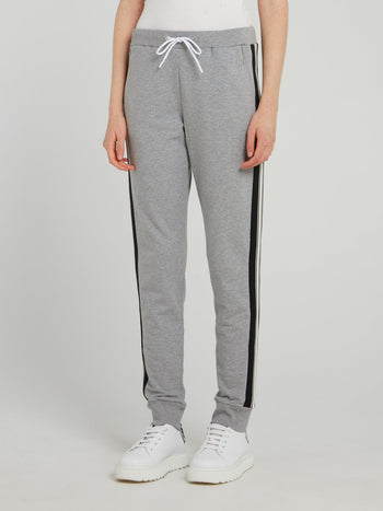 Grey Drawstring Fleece Sweatpants