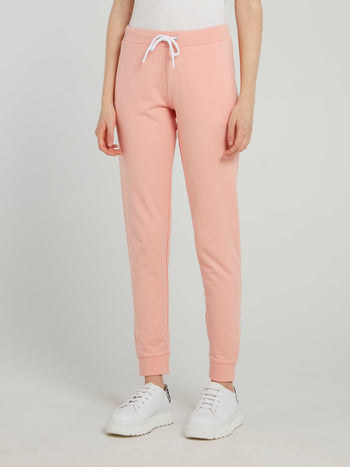 Pink Drawstring Fleece Sweatpants