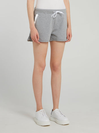 Grey Mesh Pocket Active Shorts