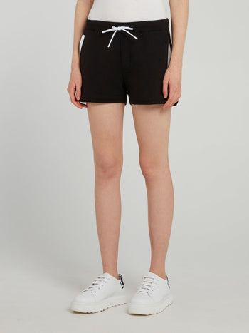 Black Mesh Pocket Active Shorts