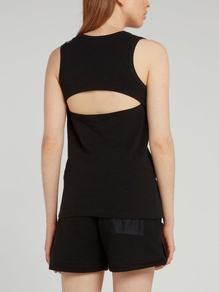 Black Cut Out Tank Top