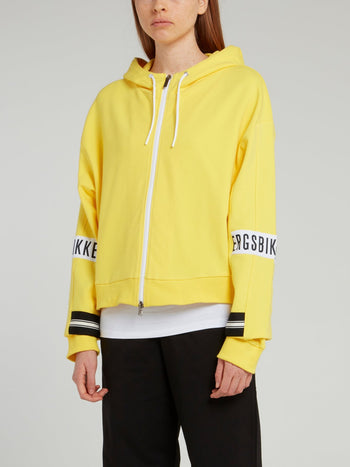 Yellow Logo Sleeve Sweat Jacket